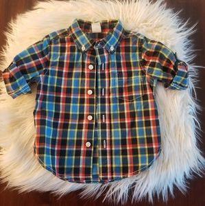 Baby GAP 12-18 Month Plaid Button Shirt